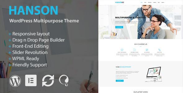 Hanson - Multipurpose WordPress Theme - Business Corporate