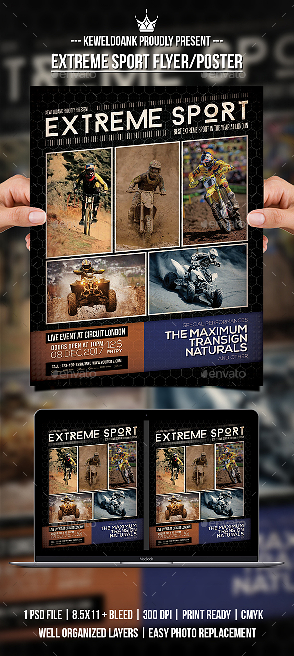 GraphicRiver Extreme Sport Flyer Poster 20971255
