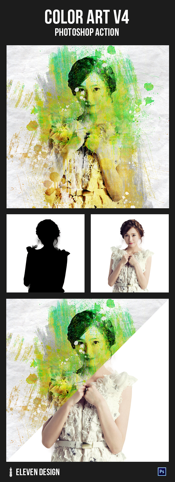 GraphicRiver Color Art v4 Photoshop Action 20971562