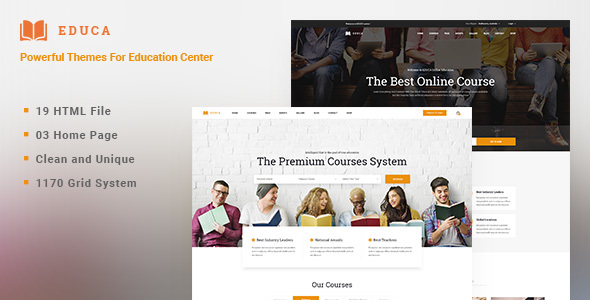 ThemeForest EDUCA Multiconcept Education & Courses HTML Template 20971589