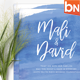 Modern Brush Wedding Invitations - GraphicRiver Item for Sale