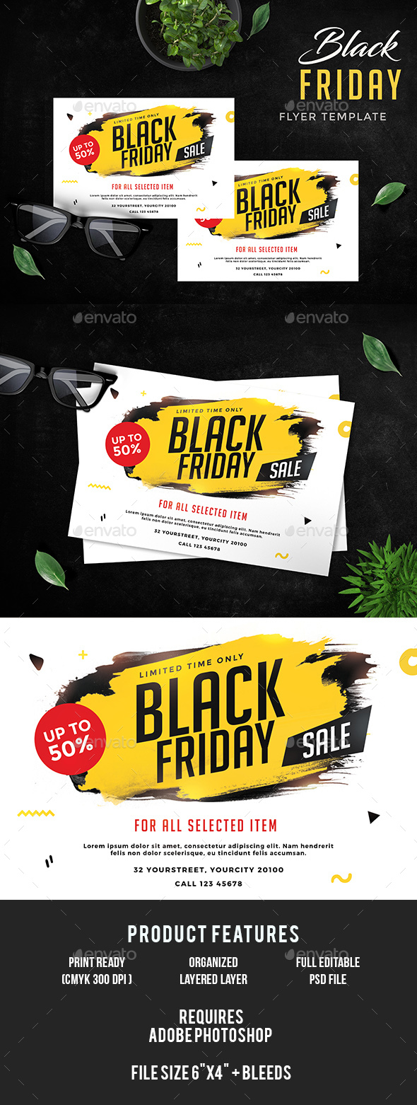 GraphicRiver Black Friday Sale Flyer 20971720