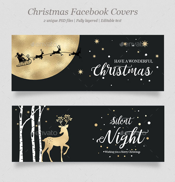 GraphicRiver 2 Christmas Facebook Covers Vol.2 20971870