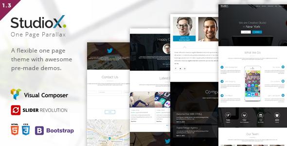 StudioX - One Page WordPress - Creative WordPress