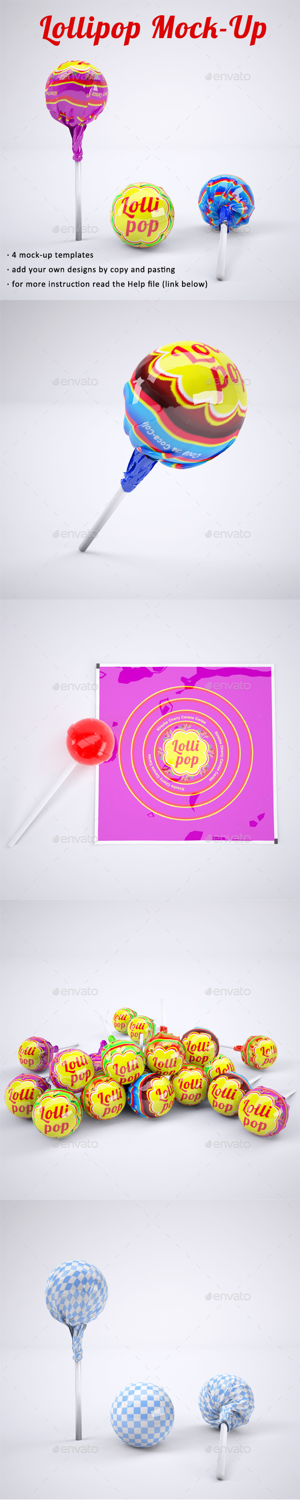 Lollipop Mock-Up - Product Mock-Ups Graphics