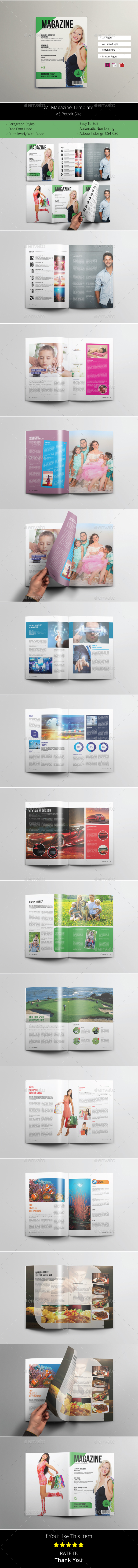 GraphicRiver A5 Magazine Template 20972099