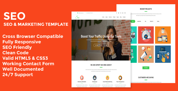 Download Seo - Seo & Marketing Business Template            nulled nulled version