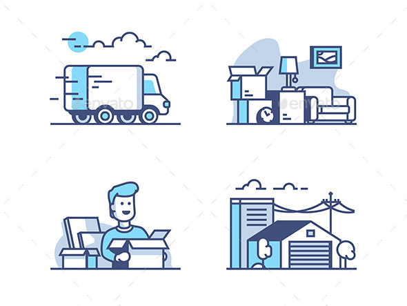GraphicRiver Moving and Storage in Warehouse 20972142