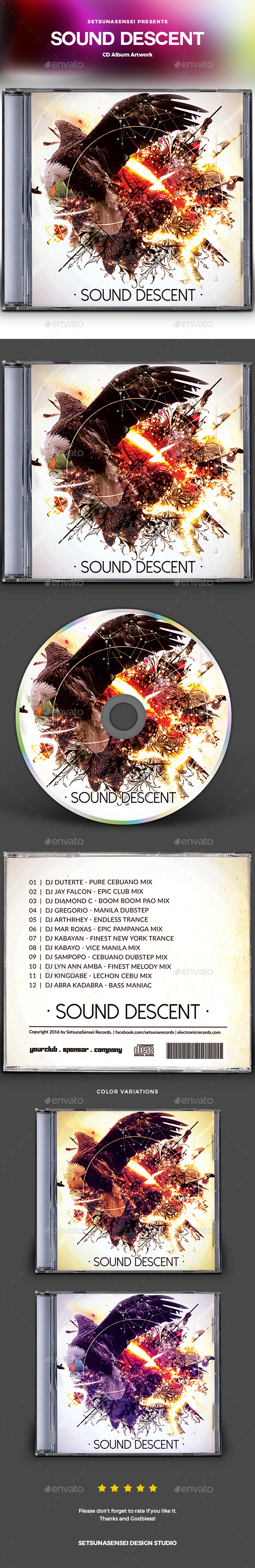 Sound Descent CD Album Artwork - CD & DVD Artwork Print Templates