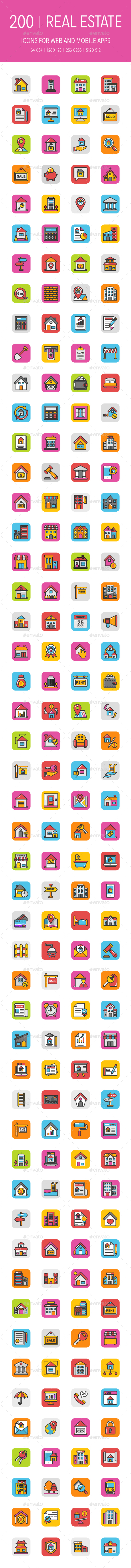 200 Real Estate Icons - Icons