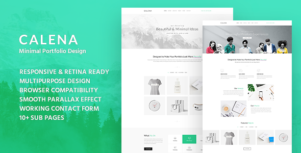 Calena - Minimal Digital Agency HTML Template
