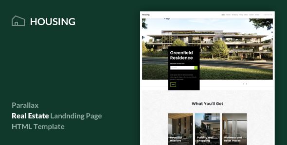 ThemeForest Housing Real Estate Landing Page Template 20972193