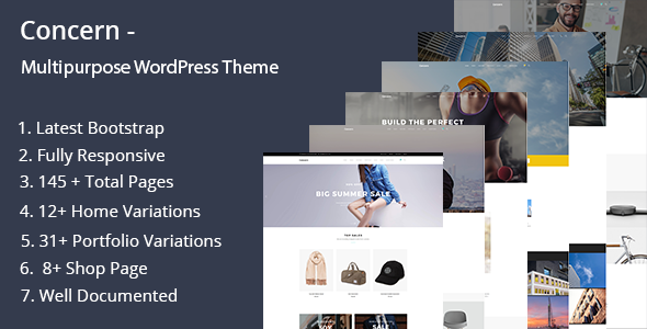 Concern - Multipurpose and Portfolio WordPress Theme