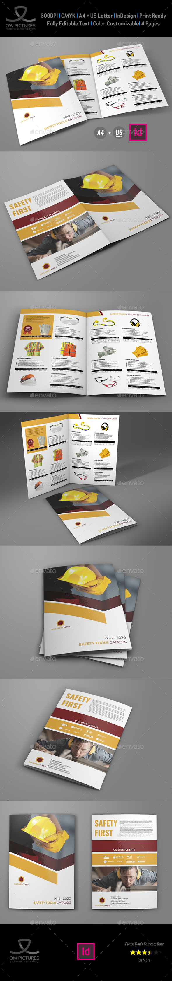 GraphicRiver Safety Tools Catalog Bi-Fold Brochure Template 20972466