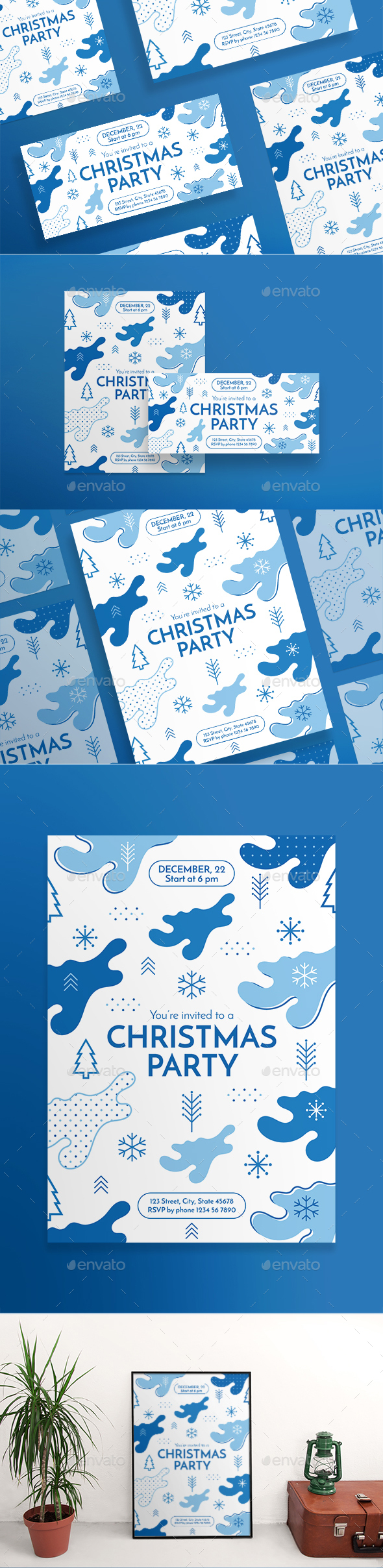 GraphicRiver Christmas Party Flyers 20972492