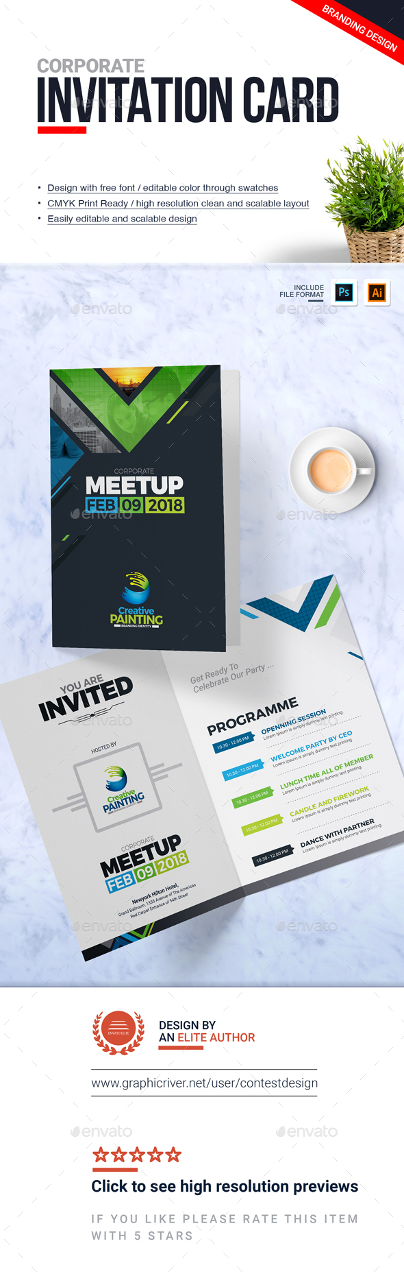 GraphicRiver Corporate Invitation Card Design Template 20952899