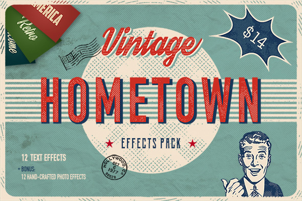 GraphicRiver Hometown Effects Pack 20972709