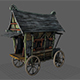 Fancy Medieval Caravan - 3DOcean Item for Sale