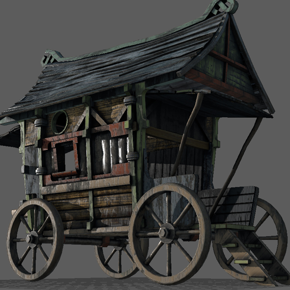3DOcean Fancy Medieval Caravan 20972901