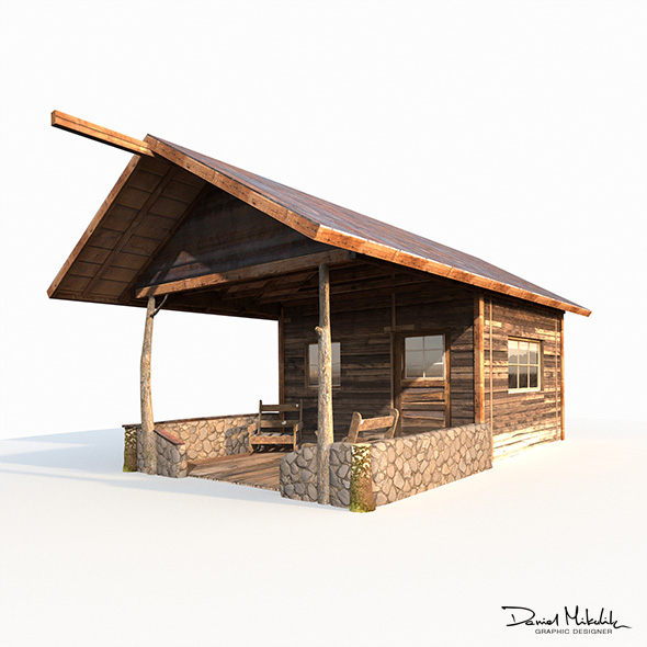 3DOcean Small Old Shanty Low Poly 20973092