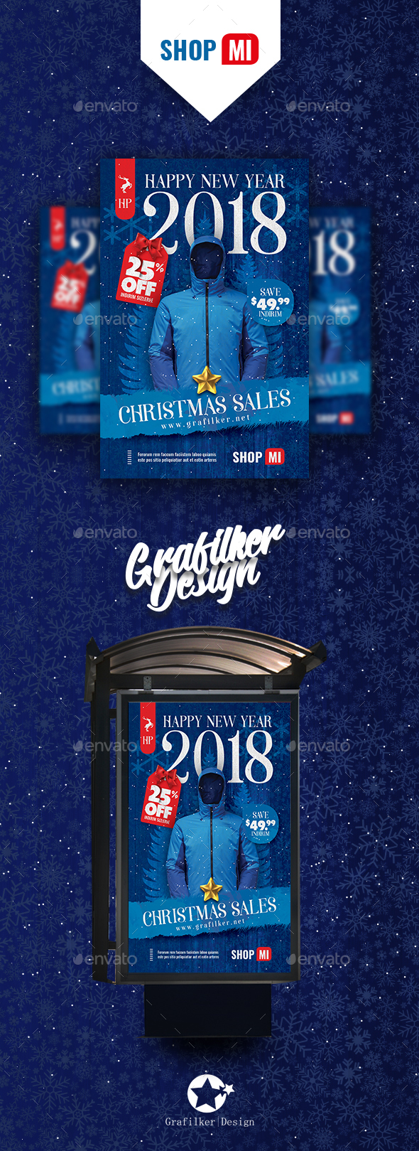 GraphicRiver Christmas Sale Poster Templates 20973247