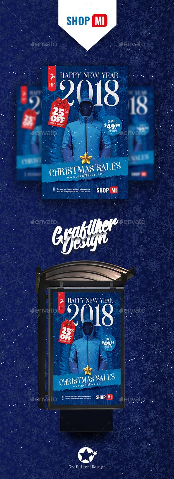 Christmas Sale Poster Templates - Signage Print Templates