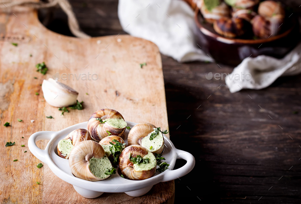 Escargots de Bourgogne - Stock Photo - Images