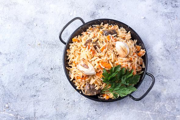 Lamb pilaf rice - Stock Photo - Images