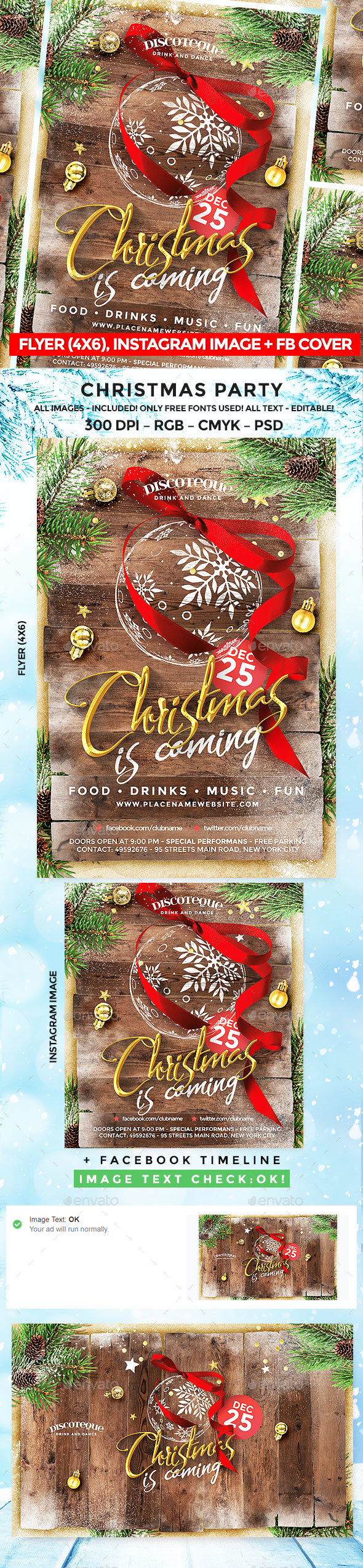 GraphicRiver Christmas Party Flyer 20973854