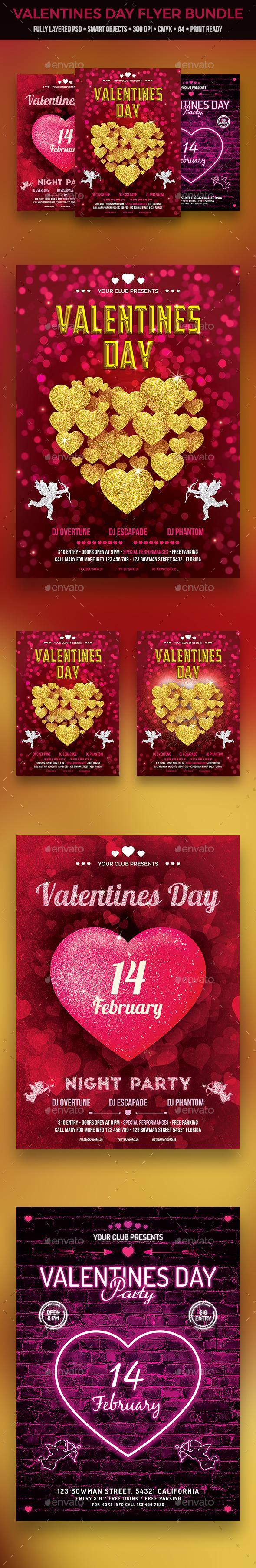 GraphicRiver Valentines Day Flyer Bundle 20973863