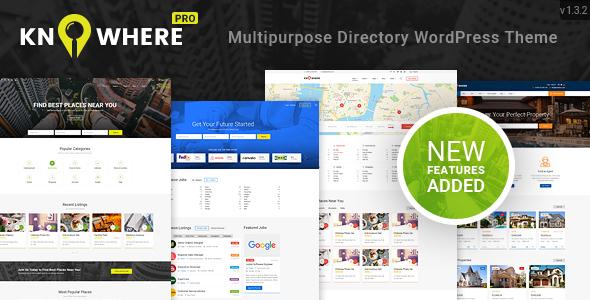 Knowhere Pro - Multipurpose Directory WordPress Theme - Directory & Listings Corporate