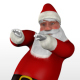 Dancing Santa Claus Bright Background - VideoHive Item for Sale