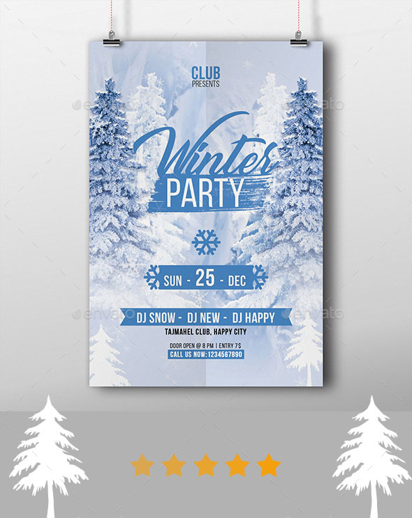 GraphicRiver Winter Party Flyer 20973985