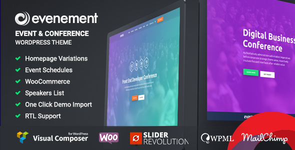 Evenement - Event & Conference WordPress Theme - Events Entertainment