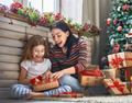 Mother and daughter exchanging gifts - PhotoDune Item for Sale