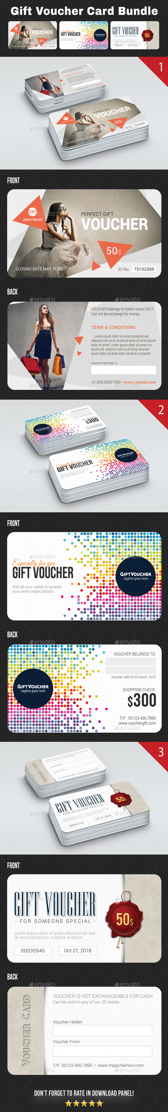 GraphicRiver 3 Gift Voucher Card Bundle 2 20974082