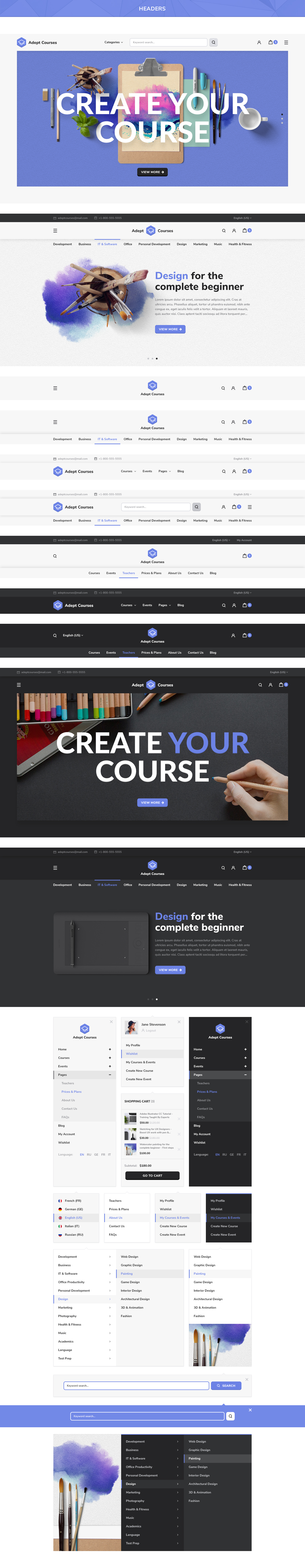 Adept courses learning management system psd kit by bestwebsoft preview11 all instructorsg preview12 instructor pageg preview13 member profileg preview14 create a courseg preview15 blog indexg baditri Images