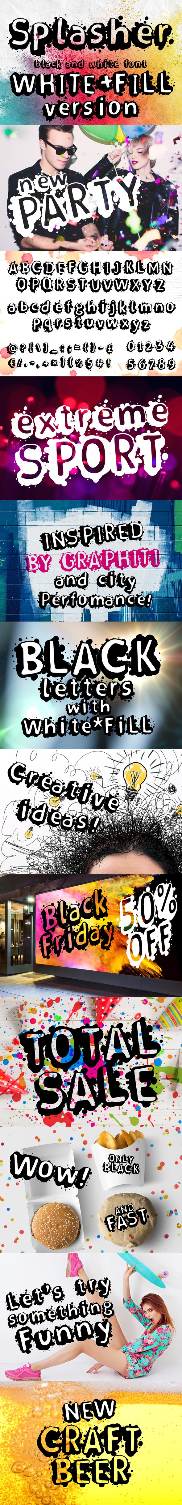 Splasher + WhiteFill Version - Sans-Serif Fonts