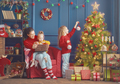 Mom and daughter decorate the tree - PhotoDune Item for Sale