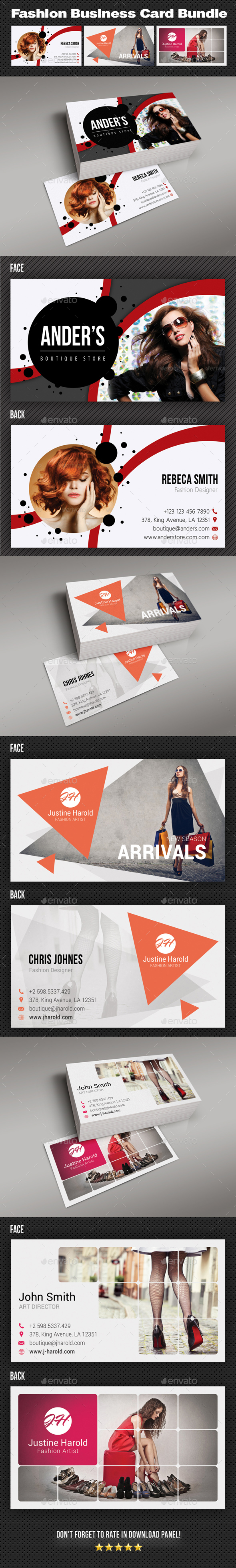 GraphicRiver Fashion Business Card Bundle 20974229