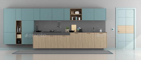 Minimalist modern kitchen - Stock Photo - Images