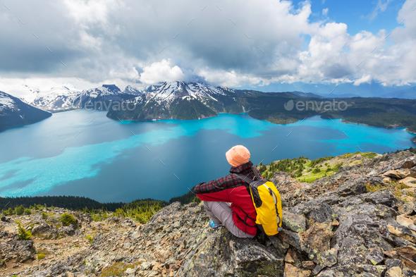 Garibaldi lake - Stock Photo - Images
