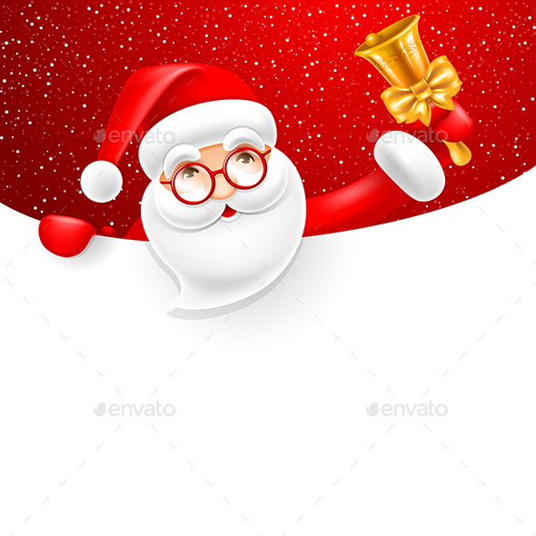 GraphicRiver Santa Claus With Jingle Bell 20974453
