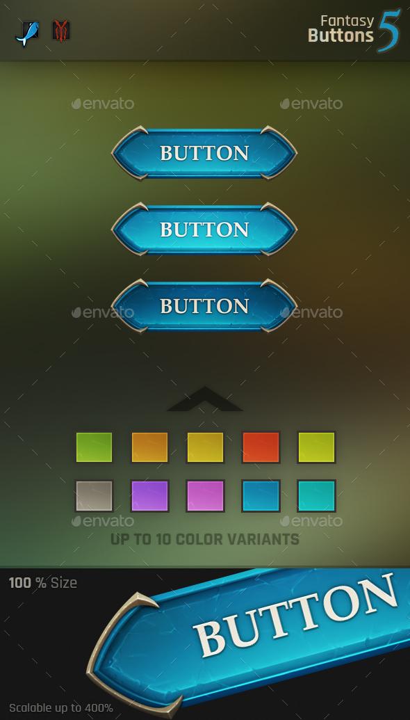 Fantasy Button 5 - Miscellaneous Game Assets