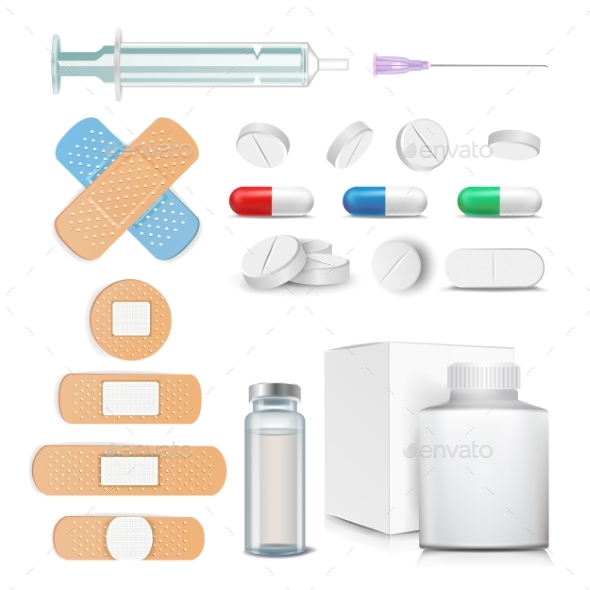 GraphicRiver Medical Items Set Vector 20974455