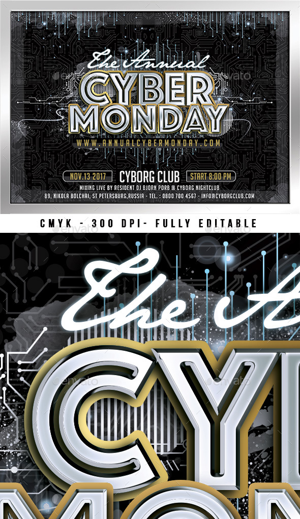 Cyber Monday - Flyers Print Templates