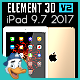 Apple iPad 9.7 2017 for Element 3d - 3DOcean Item for Sale