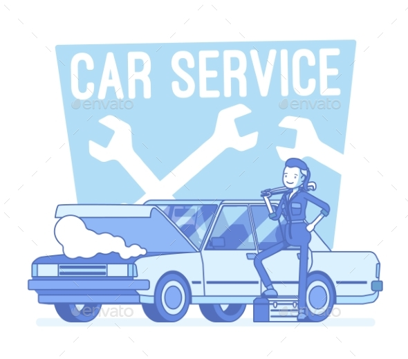 GraphicRiver Car Service Center 20974583