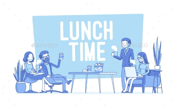 Lunch Time in the Office - Concepts Business