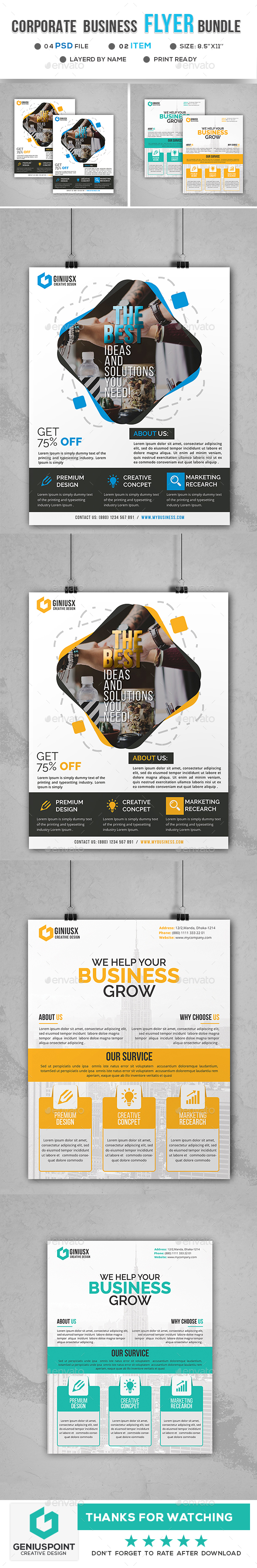 GraphicRiver Corporate Business Flyer Bundle 20974613